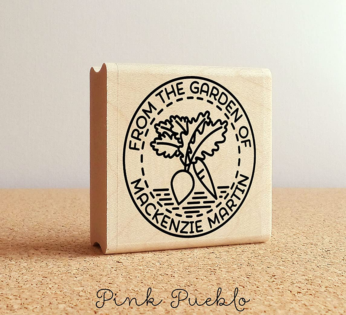 From the Garden of Stamp, Gardener Gift, Gardening Gift, Canning Label Stamp - Personalized