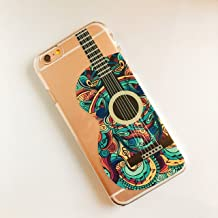 Foxycases iPhone 6 / 6S ,  Silicone Flexible Case Cover - Guitar Green Pattern Music