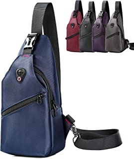 AmHoo Casual Sling Backpack Waterproof Crossbody Chest Shoudler Bag Outdoor Fashion Daypacks for Men and Women
