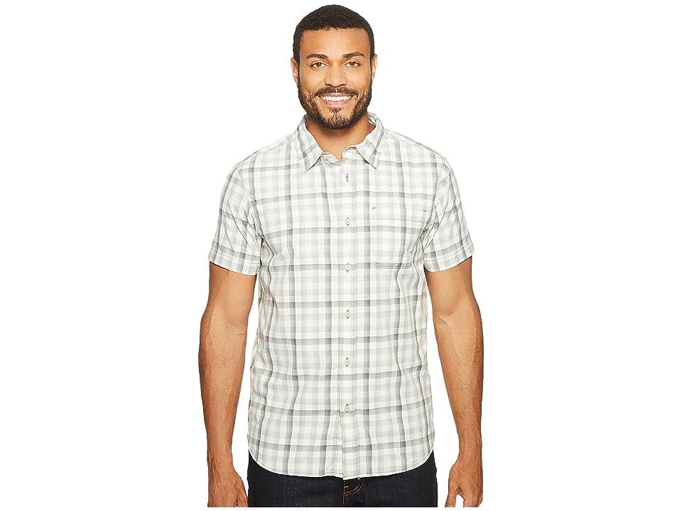 The North Face Short Sleeve Getaway Shirt (Zinc Grey Plaid (Prior Season)) Men
