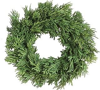Creative Co-Op 10 Inch Artificial Cedar Wreath, Green