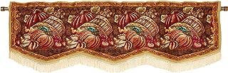 HomeCrate Fall Harvest Collection, Bushel Basket Pumpkins Apples and Grapes Design, Tapestry 60