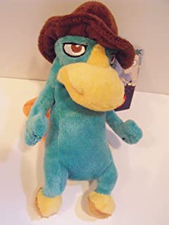 Accessory Innovations Phineas & Ferb Agent P Perry The Platypus 7 Plush Character Soft Zip Backpack Clip