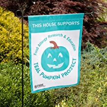 SCS Direct Teal Pumpkin Halloween Garden Flag Party Decoration - 12x18 Outdoor Decorations - Pole Sold Separately