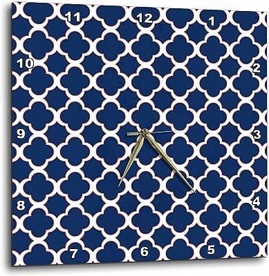 10 by 10-Inch 3dRose dpp/_20349/_1 Blue Snakeskin Animal Print Wall Clock