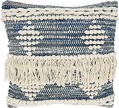 غطاء وسادة من مجموعة نوتيكا من SARO LIFESTYLE مقاس 45.72 سم × 45.72 سم، أزرق