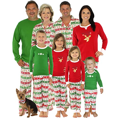 9018434833 SleepytimePjs Family Matching Christmas Reindeer Pajamas PJs Sets for Family
