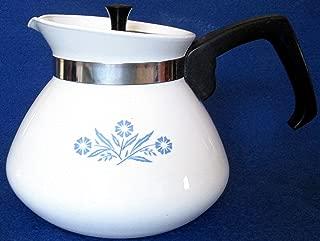 Corning Ware Blue Cornflower 6 Cup Tea Pot With Metal Lid and Metal Tea Ball