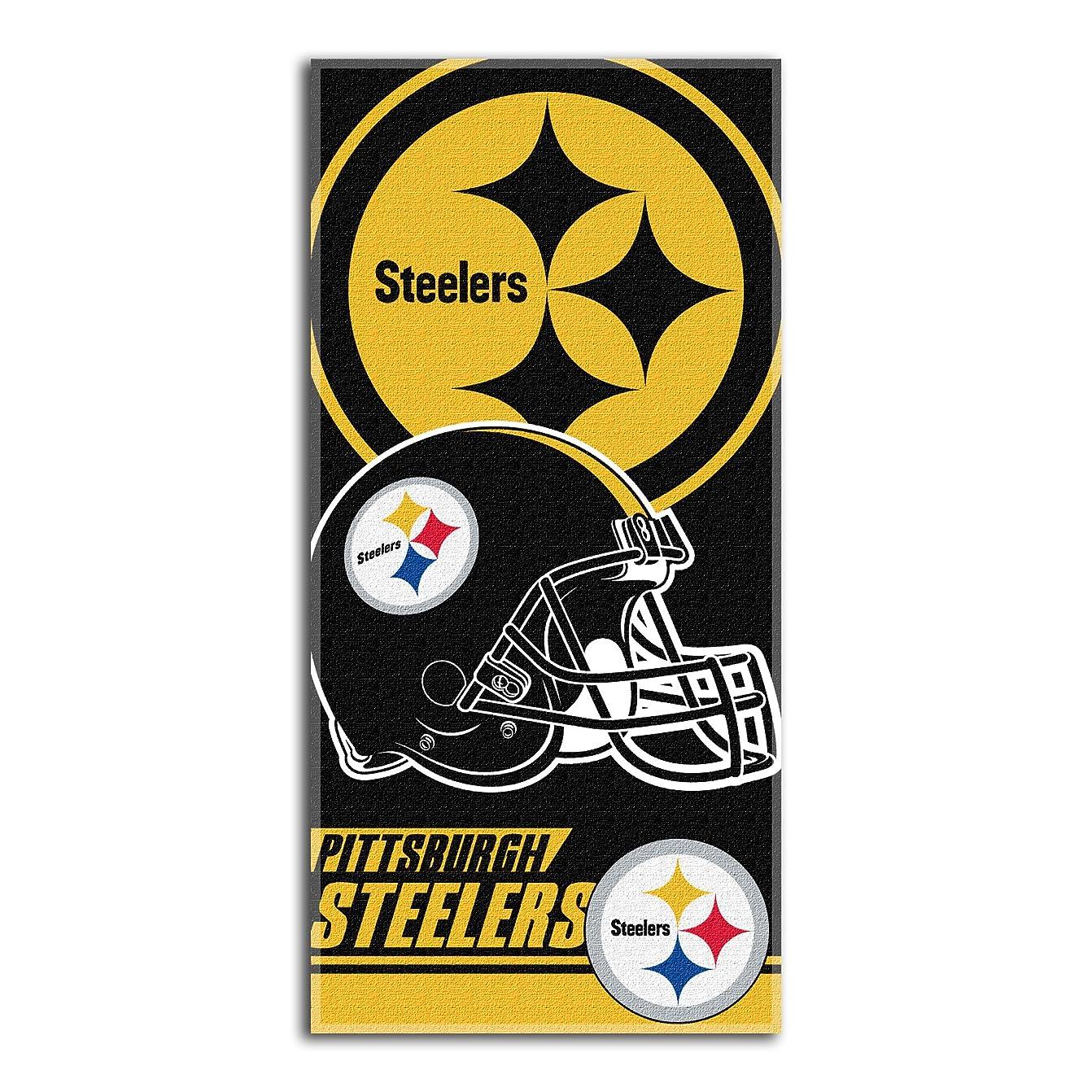 ミュウミュウ奨励します徹底NFL Pittsburgh SteelersダブルCoveredビーチタオル、28?x 58-inch