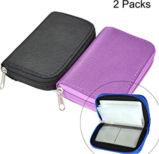 Memory Card Cases, 2 Packs Bestshoot Memory Card Holder Bags Pouch Organizer Keeper 22 Slot SD Micro SD CF SDHC SDXC MMC S...