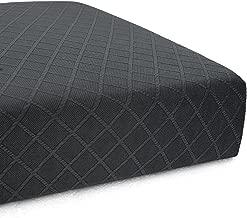 CHUN YI Stretch Polyester and Spandex Rhombus Cushion Slipcovers Multi-Purpose Sofa Seat Cushion Cover for 3-Seater Cushion (Gray, Sofa Cushion)