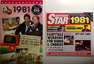 1981 Birthday Gifts Pack - 1981 DVD Film , 1981 Chart Hits CD and 1981 Birthday Card
