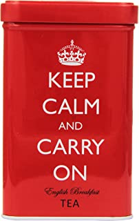 Keep Calm and Carry On Red Tin, English Breakfast Tea (40 Bags, 125g, 4.4 oz)