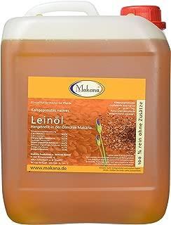 Makana Leinöl für Tiere, kaltgepresst, 100% rein, 5000 ml Kanister 1 x 5 l