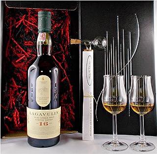 Geschenk Lagavulin 16 Jahre Single Malt Whisky  Glaskugelportionierer  2 Whiskey Gläser