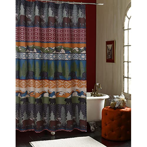 Barefoot Bungalow Black Bear Lodge Bath Shower Curtain