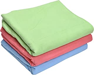MK HANDICRAFT Set of 3 Pieces Pure Cotton Sheets for Babies (Children: M, RED)