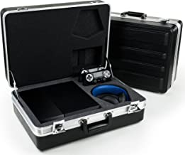 Playstation 4 Hard Case by Foamy Lizard ® ProGamer TAC Case Professional Foam Lined Securable Travel Case & Storage for PS4, 2-4 Games, Audio Headset, Camera, 2 Controllers, Cables & Misc. Accessories