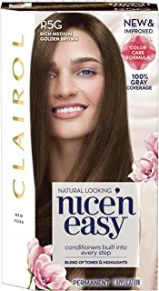 Sponsored Ad - Clairol Nice'n Easy Permanent Hair Color, R5G Rich Medium Golden Brown, Pack of 1