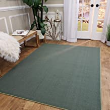 Maxy Home Area Rug 3x5 Solid Teal Green Rubber Backed Non Slip for Any Room, Kitchen Rugs and Mats, Washable, Made in Europe