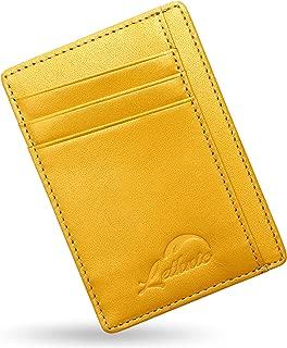 Slim Wallet RFID Front Pocket Minimalist Wallet with Crossed Design