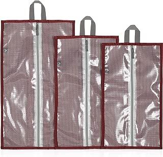 Hynes Eagle Waterproof Shoe Bag Organizer Travel Shoe Storage with Zipper Closure, Shoes Bag for Women Men, 3pcs