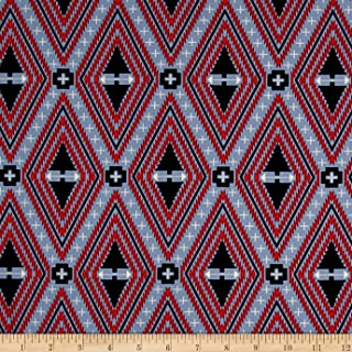 FreeSpirit Fabrics 0521676 Tula Pink Holiday Homies Family Tree Blue Fabric by The Yard