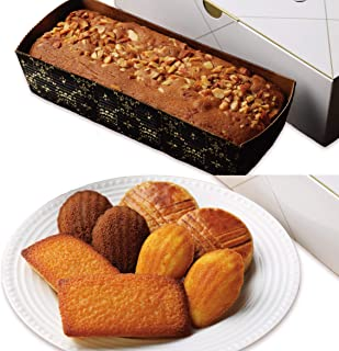 パッコビアンコ 北海道バターケーキとガトーバリエ(フィナンシェ、ガレットブルトンヌ、 マドレーヌ、マドレーヌショコラの詰め合わせ)のセット