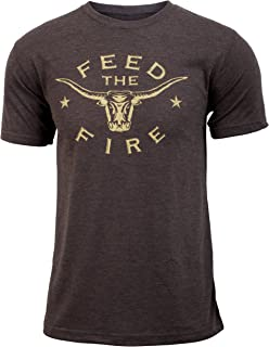 Feed the Fire (Eat Beef) - Coffee Brown - Men's Triblend Funny Workout T-shirt