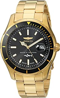 Men's Pro Diver Quartz Watch with Stainless-Steel Strap, Gold, 9 (Model: 25810)