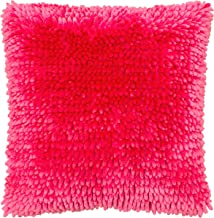 Dolce Home Butter Chenille Decorative Pillow, 18 X 18, Rose Pink