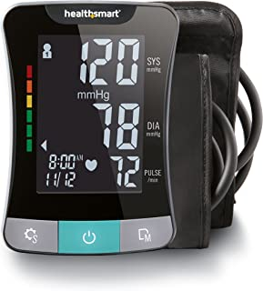 Blood Pressure Monitor for Upper Arm with Clinically Accurate Talking LCD Screen and includes Both Standard