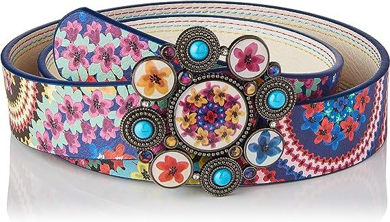 TALLA 95 cm. Desigual Belt_New Mandala Cinturón para Mujer