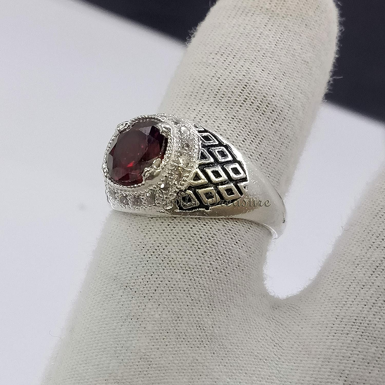 Rare Garnet Ring Wedding Anniversary Jewelry Gar online shop Gift