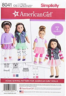 Simplicity Patterns American Girl Doll Clothes for 18 Inch Doll Size: Os (One Size), 8041