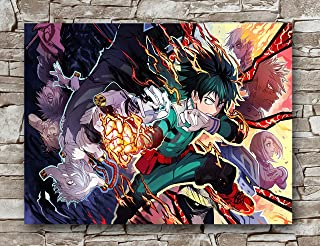 Zero.o My Hero Academia Poster Standard Size | 18-Inches by 24-Inches | Japanese Anime Manga My Hero Academia Posters Wall Poster Print