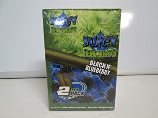 JUICY JAY'S HEMP WRAPS BLACK N BLUEBERRY FLAVOR PACK OF 25