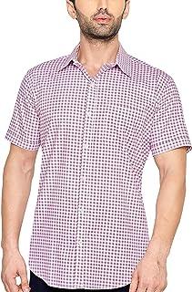 True United Men's Checkered Half Sleeve Casual Shirt