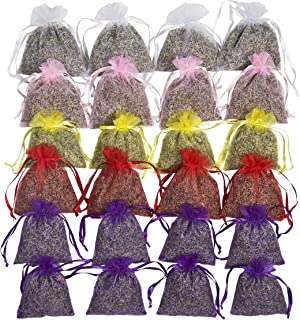 24 Small Mix Color Sachets Craft Bag with Dried French Lavender Flower Buds - Lavender Sachets for Wedding Toss, Home Fragrance Sachets for Drawers and Dressers - by Lavande Sur Terre