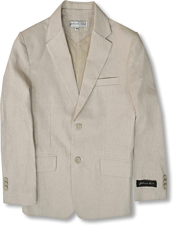 Johnnie Lene Boys' Cotton/Linen Blend Blazer Jacket