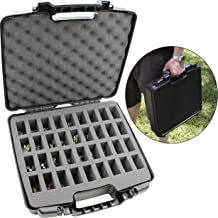CASEMATIX Hard Shell Miniature Storage Travel Case - 36 Figurine Miniature Organizer and Miniatures Carrying Case with Protective Foam Interior for Dungeons & Dragons, Warhammer, 40K Minis and More!
