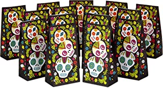 Hallmark Day of the Dead Party Favor and Wrapped Treat Bags (15 Ct.) for Halloween, Día de los Muertos, Class Parties and More