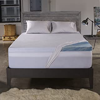 Sleep Innovations 2.5-inch Gel Memory Foam Mattress Topper with 100% Cotton Cover, Made in The USA with a 10-Year Warranty - Twin Size
