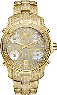 JBW Men's Limited Edition Jet Setter 5.50 ctw Diamond 18k Gold-Plated Stainless Steel Watch - JB-6213-550-A