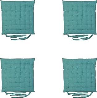 Lileno Home Coussin de chaise Vert pomme 40 x 40 x 6 cm baie 1er Set