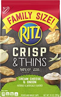Ritz Crisps & Thins Cream Cheese & Onion Chips, 10 Ounce