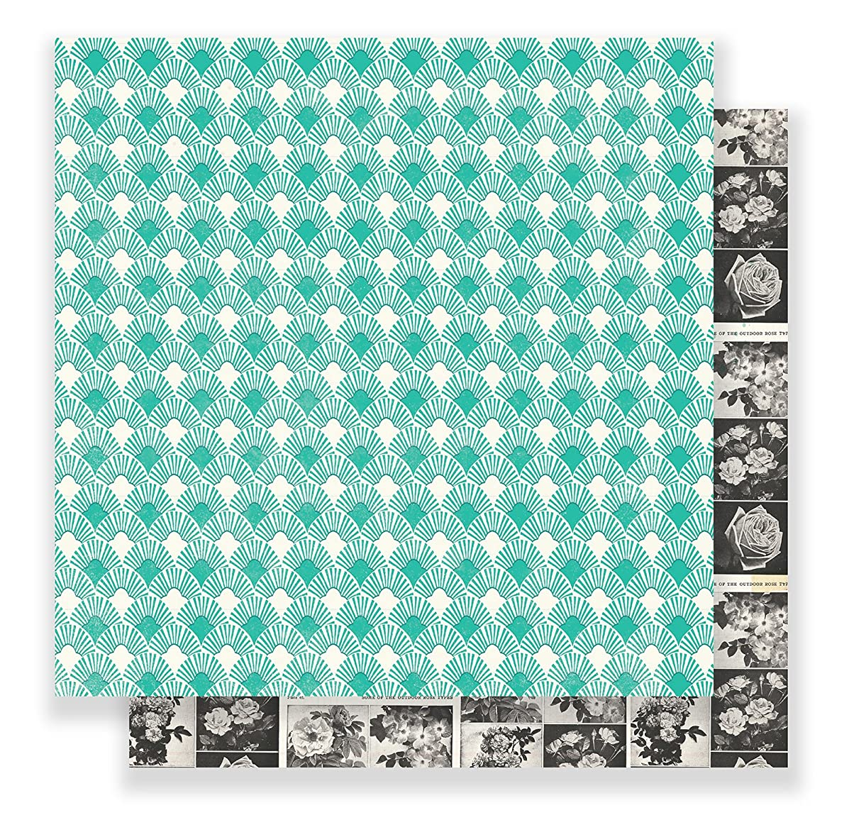 Maggie Holmes Flourish Patterned 12 x 12 Paper Charlotte (25 Pack), Piece