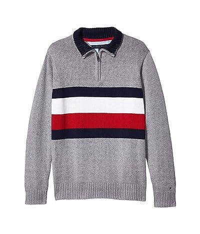 Tommy Hilfiger Kids John Sweater (Big Kids) (Grey Heather) Boy