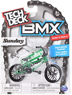 TECH DECK BMX Finger Bike Series 12, Sunday - Replica Bike with Real Metal Frame, Graphics, and Moveable Parts for Flick T...