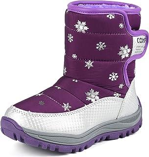 حذاء برقبة طويلة حتى الكاحل للمشي في الهواء الطلق من Beautoday للأولاد والبنات في الهواء الطلق مقاوم للماء للطقس البارد في...
